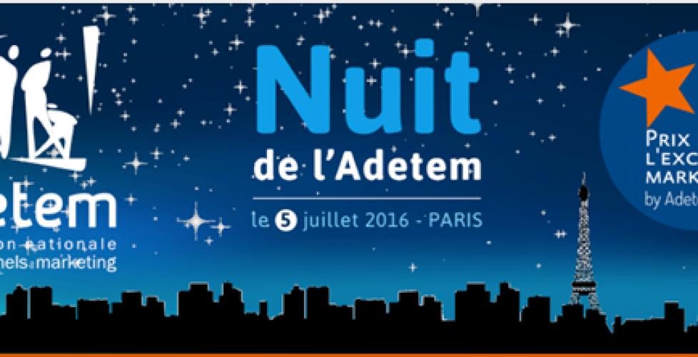 Remise des Prix de l'Excellence Marketing by Adetem.